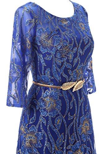Promkleid Partykleid Abendkleid Festkleid Herzform Spitze Royalblau Hi Lo Rueckenfrei Tuell Modern Ivydressing Damen qR81zz