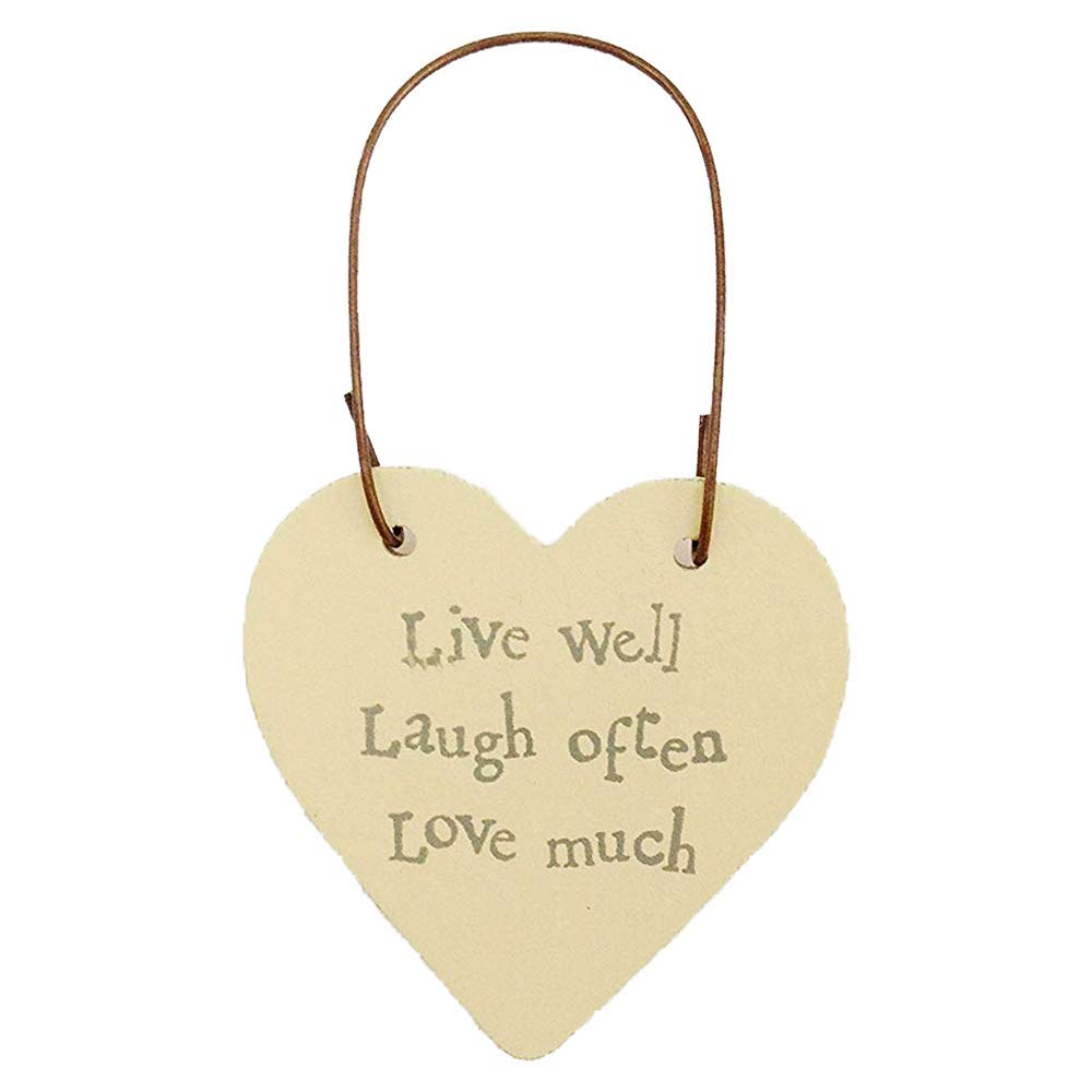 East Of India Mini wooden heart on wire hanger Your Sparkle