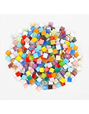 Mixed Color Crystal Mosaic Tiles, 1 Pack Glass Mosaic for Decoration in Home Office Road or Art Craft and Jewelry Making