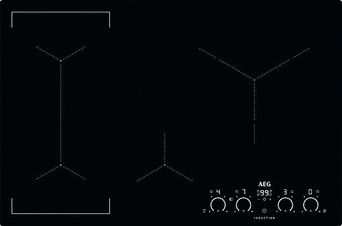 AEG ikk 84540 IB/vidrio y cerámica inducción/ras/montaje 80 ...