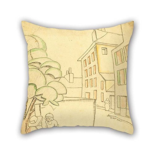Sofa Art Deco Leather (eyeselect Cushion Covers 16 X 16 Inches / 40 by 40 cm(Each Side) Nice Choice for Bedding Bedroom Kids Room Father Office Family Oil Painting Juan Gris - Une Rue ?? Montmartre for Christmas)