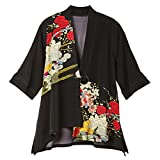 Product review for CATALOG CLASSICS Women's Asian Poppies Fashion Jacket - Black - 3/4 Sleeves