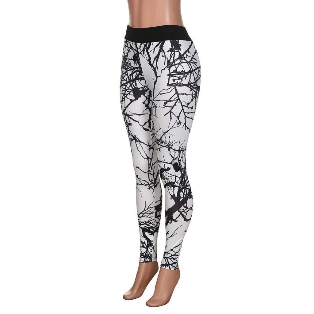 Amazon.com: SAKAMU- Womens New Print Leggings Casual Sports ...