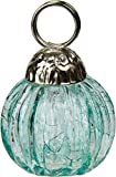 Luna Bazaar Miniature Glass Bauble Place Card Holder (1.25-Inch, Turquoise Blue)