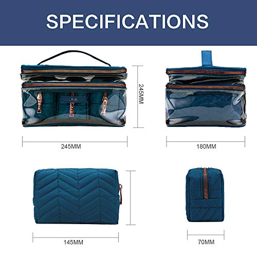 Travel Makeup Bags Cosmetic Bag For On The Go Portable Makeup Bags Travel Cosmetic Bags With Compartments Storage For Makeup Bags Organizer For Makeup Cosmetic Bag And Makeup Holder, Blue