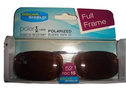 0a496d95ccb1a Amazon.com  Solar Shield 54 Rec 1 Full Frame Gray Polarized Clip on  Sunglasses  Shoes