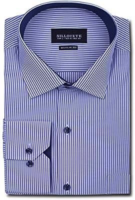 Men's Dress Shirt Classic Fit Long Sleeve Regular Stripe Spread Collar