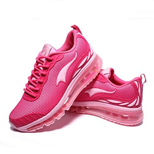 U-mac Uomo E Donna Moda Sneaker Leggero Cuscino Daria Fitness Sport Cross Country Scarpe Da Corsa Donna Rosa