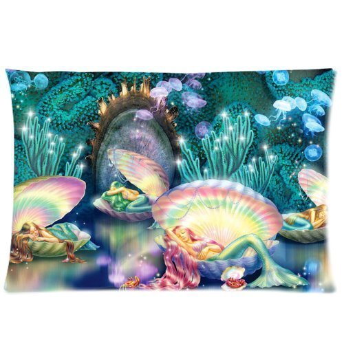 Wonderful Underwater World Beautiful Mermaid Seashell Art