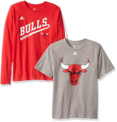 OuterStuff NBA Youth 8-20 Chicago Bulls 2 For 1 Play Combo Pack-Heather Grey-L(14-16) Chicago Bulls Heather