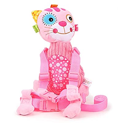 4426c9fc4f JOLLYBABY Flower cat Plush Backpack Baby Leash shoulder Bag With Safety  Rein and Harness for Kids