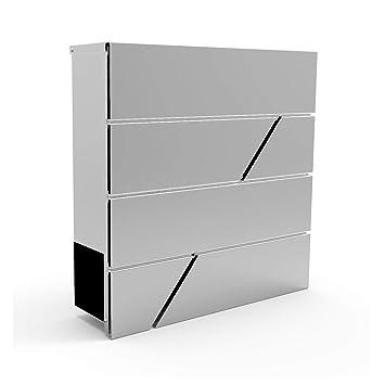BRIEFKASTEN EDELSTAHL DESIGN POSTKASTEN ZEITUNGSFACH -ROLLE WAND MAILBOX  400001