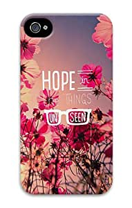 iPhone 4S/4 Cases - Quotes Hope Things Unseen PC Hard Case Back Cover for iPhone 4 and iPhone 4s