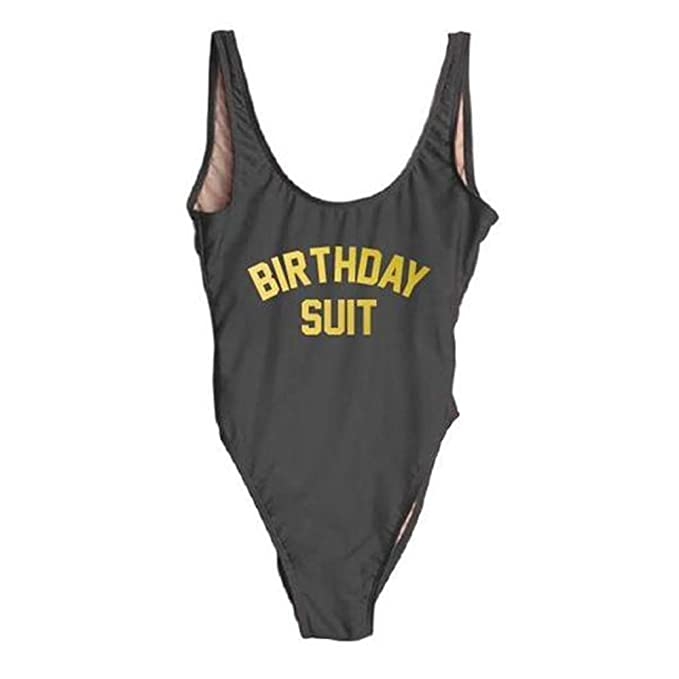 6e309e4fcd8c6 shifeier Birthday Suit Bathing Suits for Women One Piece Swimwear Sexy  Beachwear