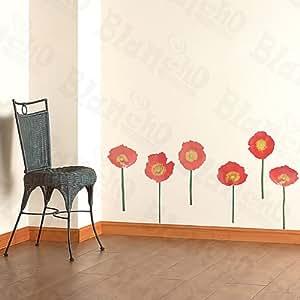 Floral adornment adhesivos decorativos de pared - Amazon decoracion pared ...