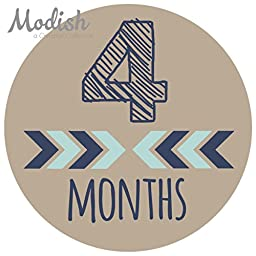 Modish Labels, 12 Monthly Baby Stickers, Baby Month Stickers Boy, Tribal, Arrows, Chevron, Baby Book Keepsake, Baby Shower Gift