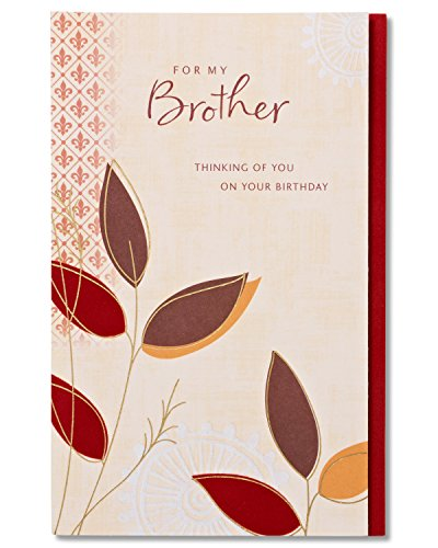 American Greetings Sentimental Birthday Card for Brother with Foil