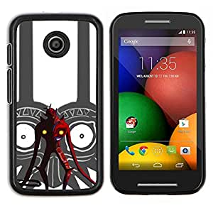 Caucho caso de Shell duro de la cubierta de accesorios de protección BY RAYDREAMMM - Motorola Moto E - Tribal Red Devil