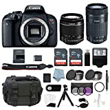 Canon EOS Rebel T7i Bundle With EF-S 18-55mm IS STM & EF-S 55-250mm IS STM Lens + Canon T7i Camera Advanced Accessory Kit Includes EVERYTHING You Need To Get Started (20 Items – Value $100) For Sale