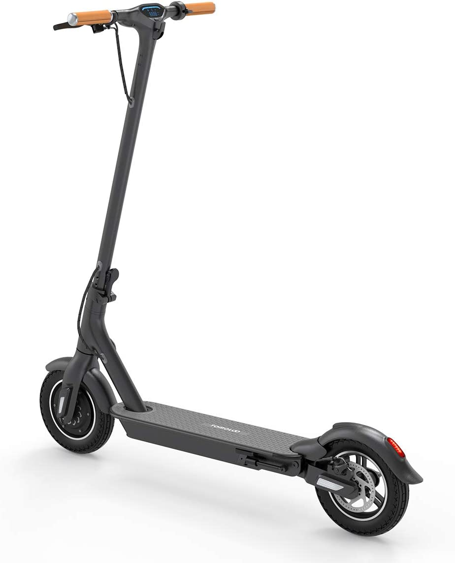TOMOLOO Electric Scooter L1-Plus, 10 Plus Air-Free Solid Tires Electric Scooter for Adults, Foldable Commuter Electric Scooter with Shock Absorption Spring and APP Connected Safe Lock