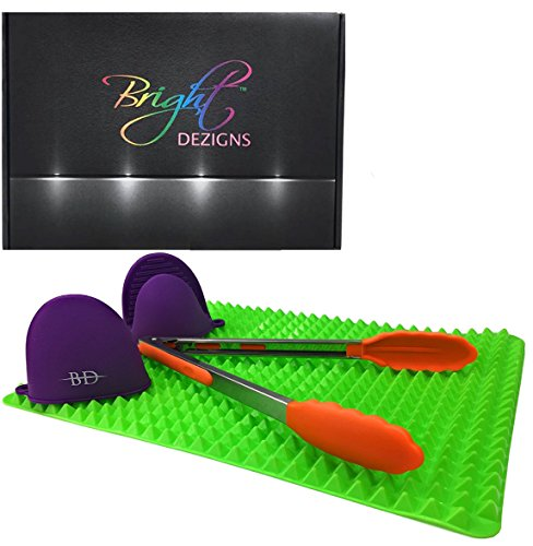 Bright Dezigns Silicone Baking Mat Non-Stick with Heat Resis