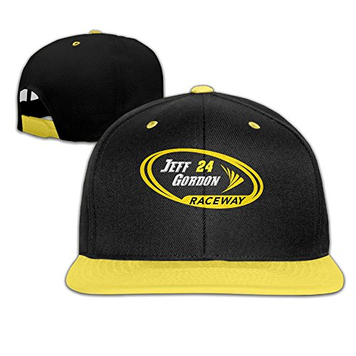 [Harriy Jeff Gordon Youth UV Protect Baseball Cap Snapback Hat Yellow] (Wicked Musical Costumes Sale)