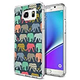 Note 5 Case Henna Mayan Aztec tribal elephant, LAACO Scratch Resistant TPU Gel Rubber Soft Skin Silicone Protective Case Cover for Samsung Galaxy Note 5