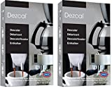 Urnex Dezcal Coffee & Espresso Descaler and Cleaner - 2 Pack - Activated Scale Remover Use With Home Coffee Brewers Espresso Machines Pod Machines Capsule Machines Kettles Garmet Steamers