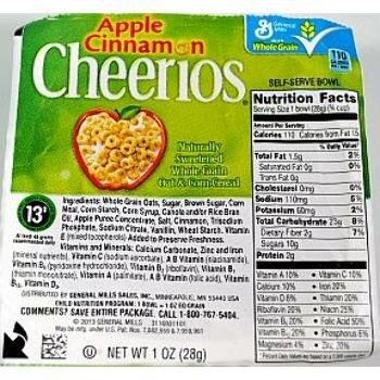 General Mills- Apple Cinnamon Cheerios Cereal (96 Pieces) - General Mills- Apple