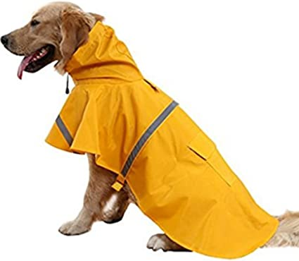 Small Large Dog Raincoat Waterproof Outdoor Cute Clothes Jacket Pet Supplies New