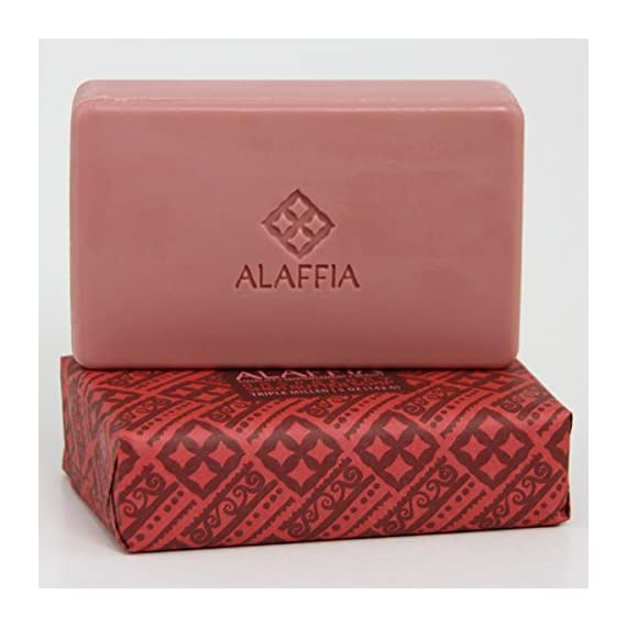 Alaffia Fair Trade Shea Butter Triple Milled Soap, 5 oz Bar 4 100% Fair Trade Ingredients Triple-Milled for Long Lasting Use No Synthetic Fragrance