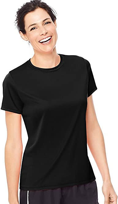 Details about  /Hanes Sport Women/'s Short Sleeve Cool Dri Performance Tee T-Shirt Navy Large
