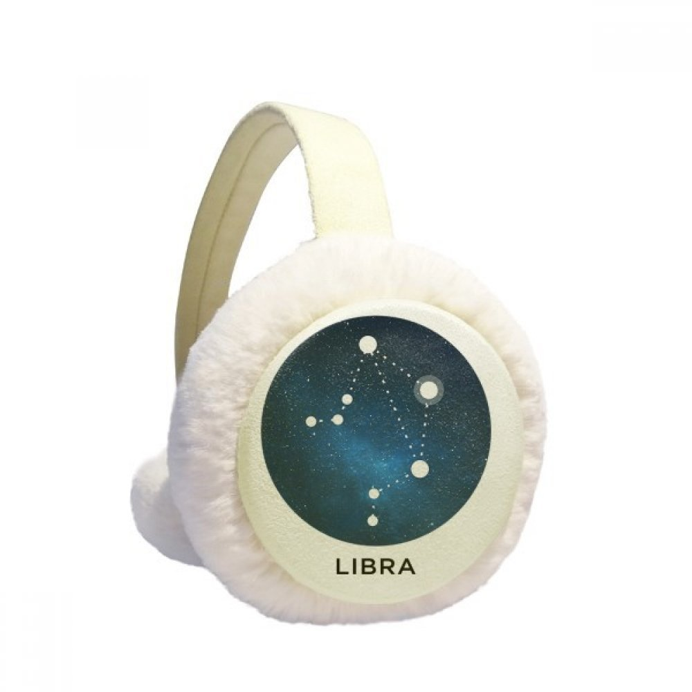 Libra Constellation Zodiac Sign Winter Earmuffs Ear Warmers Faux Fur Foldable Plush Outdoor Gift