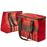 over the shoulder cooler bag - Rachael Ray ChillOut 2 Go Deluxe Thermal Tote (Set of 2) - Red
