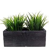 CYS EXCEL Rustic Planter Box, Wood Planter, Decorative Box, Succulent and Floral Arrangements, Box with Removable Plastic Liner, H:4' Open:10'x5'