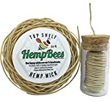 Organic Hemp Wick DISPENSER + 50 FT by HEMPBEES
