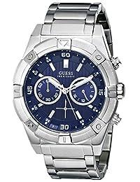 Guess Men's U0377G2 Silver Stainless-Steel Quartz Watch