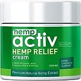 HEMPACTIV Hemp Pain Relief Cream    Hemp + MSM + Arnica + Menthol   Relieve Muscle, Joint & Arthritis Pain   Effective Hemp Pain Cream   2oz