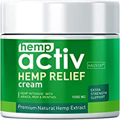 ✅BEST HEMP CREAM FOR PAIN RELIEF - Our hemp cream is all natural and independently tested to assure quality and effectiveness. Use HEMPACTIV on your painful areas to reduce chronic inflammation and soreness, so you can get your much-needed re...
