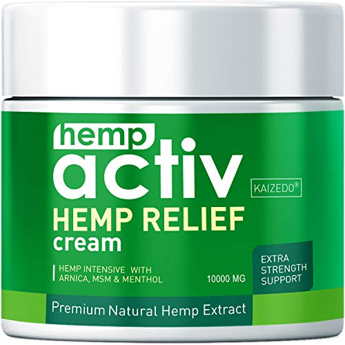 HEMPACTIV Hemp Pain Relief Cream  | Hemp + MSM + Arnica + Menthol | Relieve Muscle, Joint & Arthritis Pain | Effective Hemp Pain