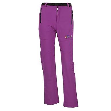 70e0dd35420 jntworld Women Warm Wind Waterproof Hiking Pants Trousers Breathable Soft  Shell
