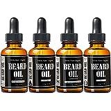 #1 Rated Beard Oil Set - Leven Rose Beard Kit - Spiced Sandalwood Beard Oil, Escape Cedarwood Beard Oil, Zen Juniper Beard Oil and Fragrance Free Beard Oil