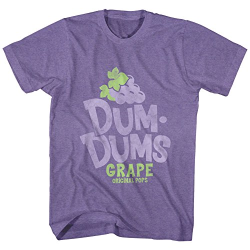 Dum Dum Tiny Lollipops (Dum Dums Grape T-shirt, Heather Purple, XL)