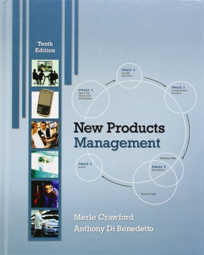 New Products Management 10th (tenth) by Crawford, C. Merle, Di Benedetto, C. Anthony (2010) Hardcover ebook