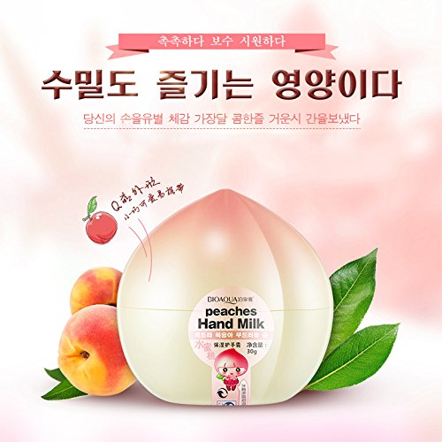 Amazon.com : Peach Lotion Mini Hand Cream Skin Whitening Skin Defender Cream Hand Care Vitaminas Moisturizing Anti-Wrinkle Handcreme 5PCS : Beauty