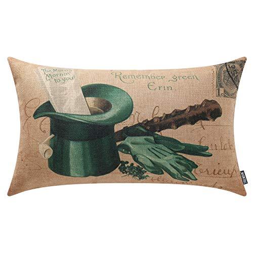 TRENDIN St. Patrick's Day Oblong Pillow Cover Cotton Linen 20 x 12 Inch Spring Decoration Seasonal Gift Cotton Linen PL419TR from TRENDIN