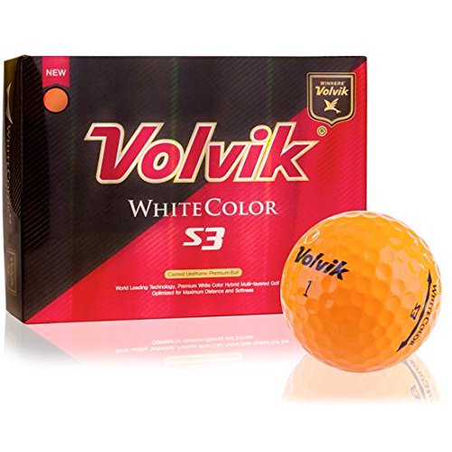 Volvik Golf S3 Orange Color Golf Balls