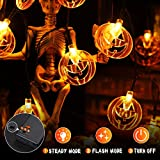 YUNLIGHTS Halloween String Lights, 3 Packs Battery