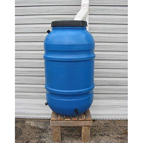 Upcycle 55 GALLON BLUE STYLE 1 Rain Barrel