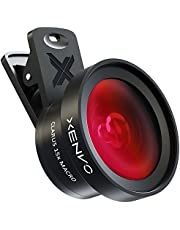 XENVO Premium iPhone Camera Lens Kit and LED Light for iPhone 6/6s/6s Plus/5s and Portable Case, Mobile Phone 0.45x Wide Angle Lens / 12.5X Macro Lens